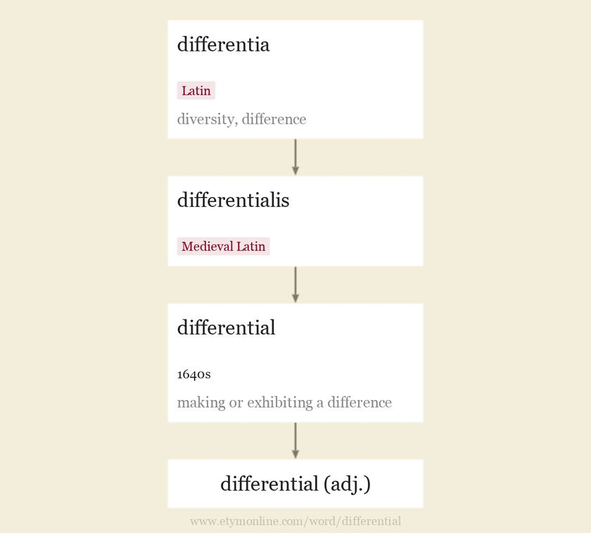 Origin and meaning of differential