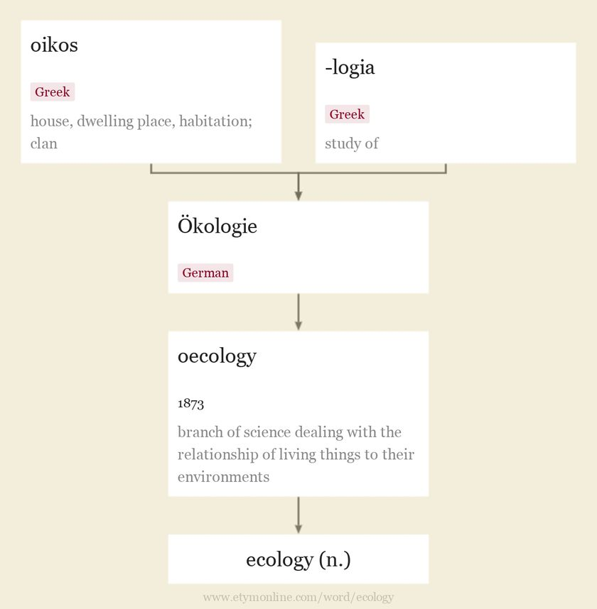 Origin and meaning of ecology