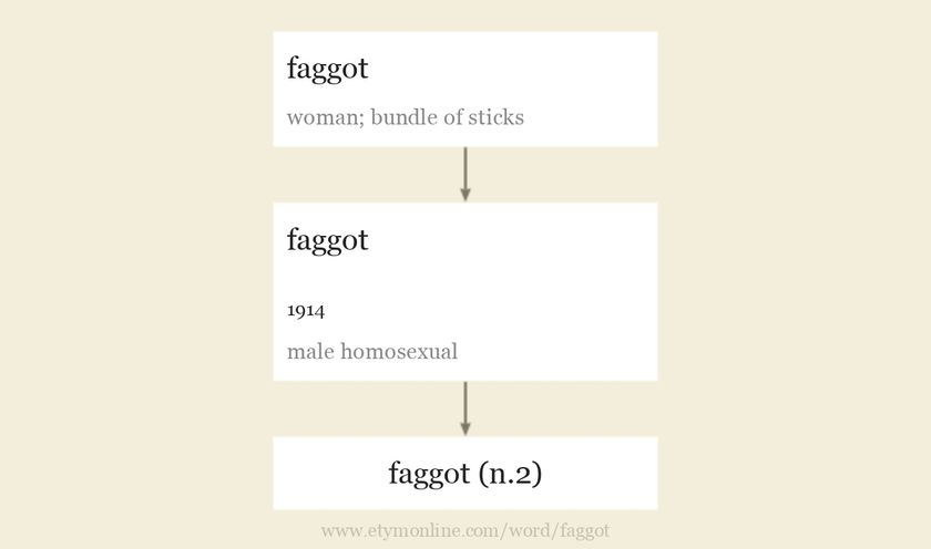 Origin and meaning of faggot
