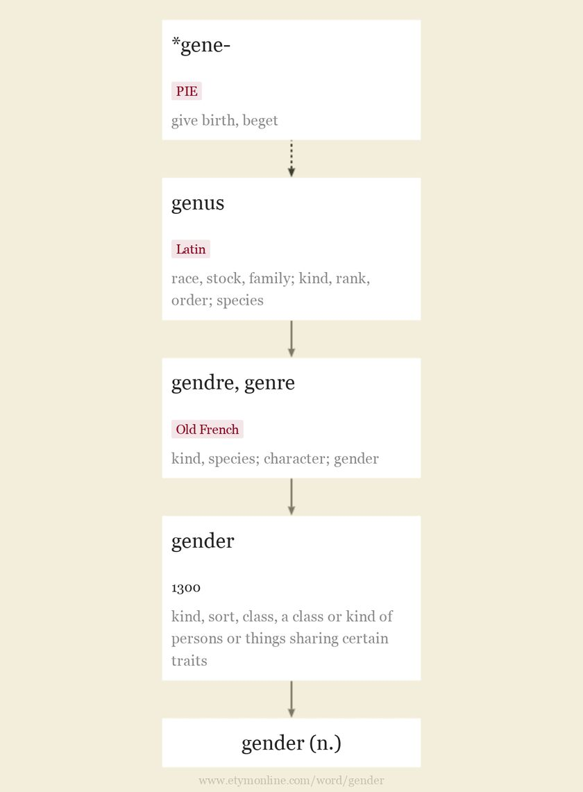 Origin and meaning of gender