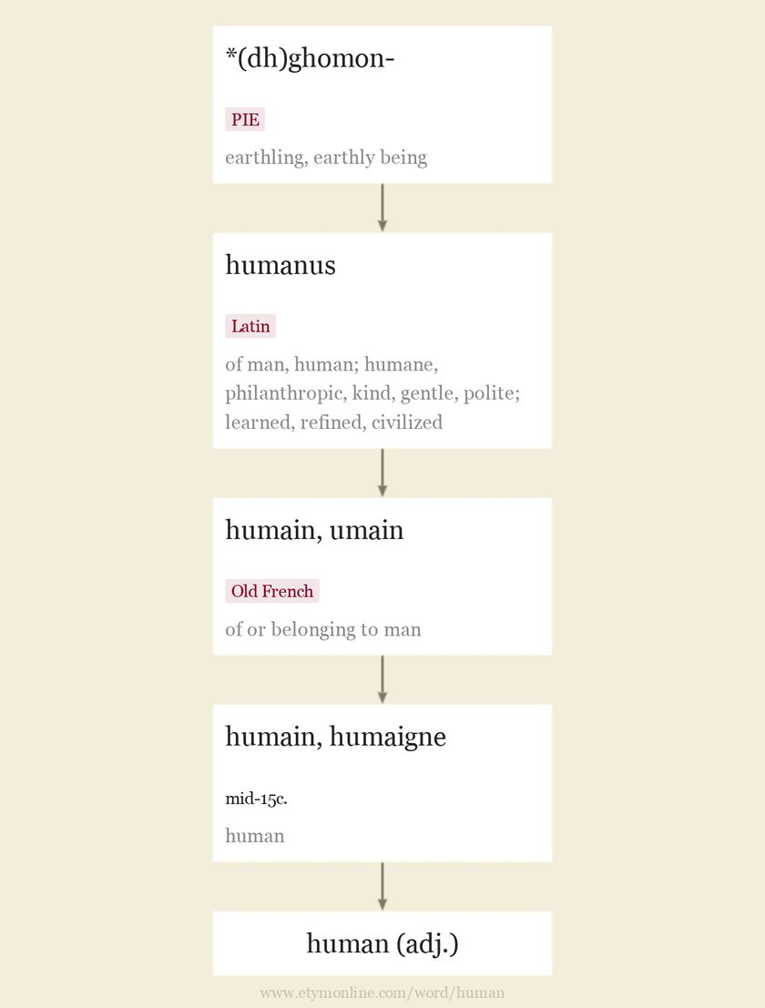 human | Origin and meaning of human by Online Etymology