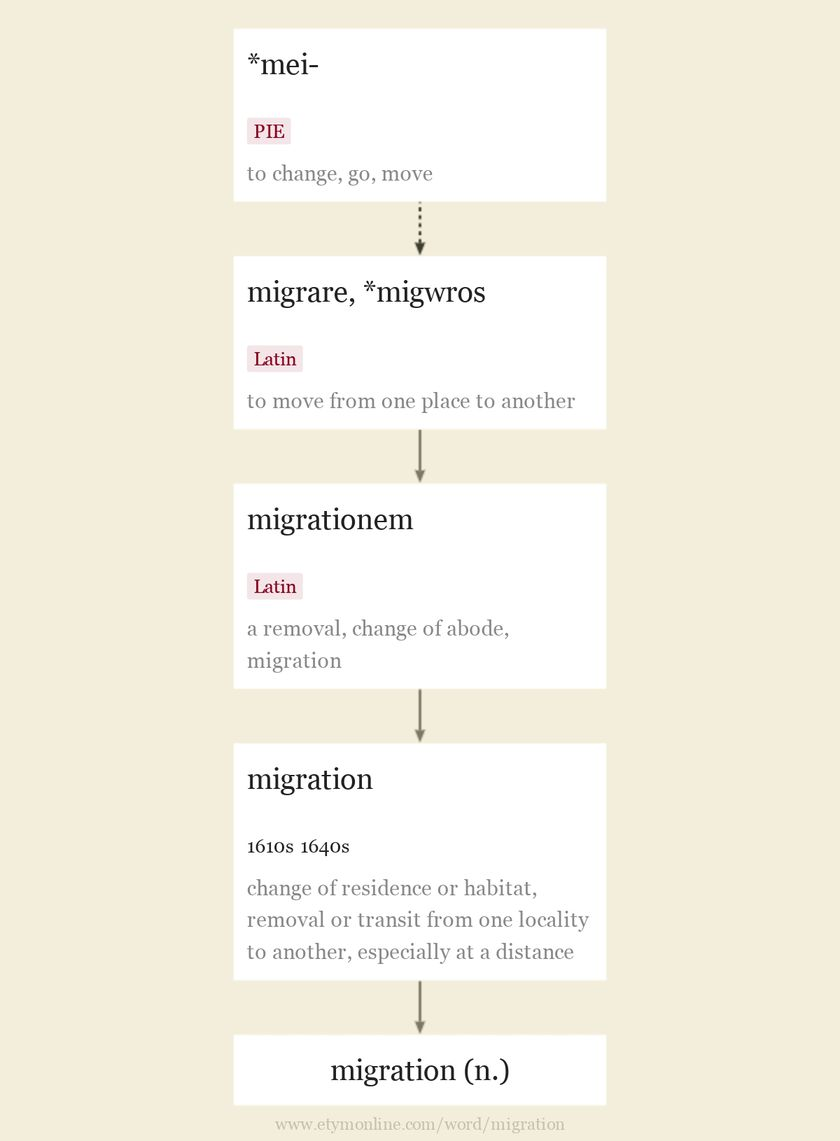 Origin and meaning of migration