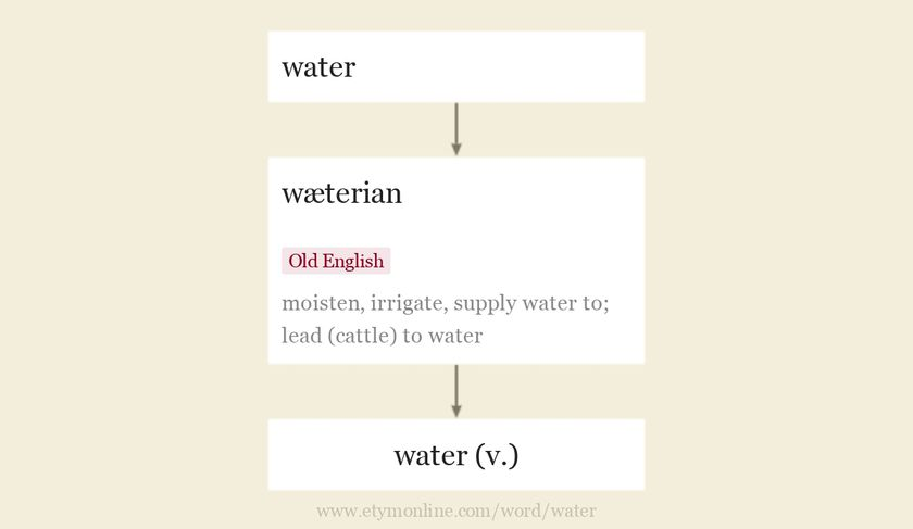 Origin and meaning of water