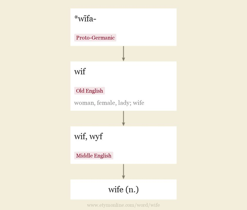 Origin and meaning of wife